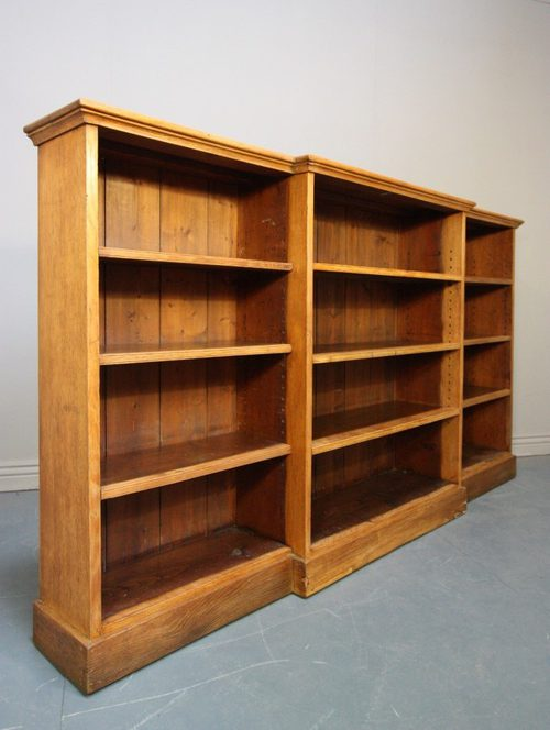 oak bookcase antiques 1