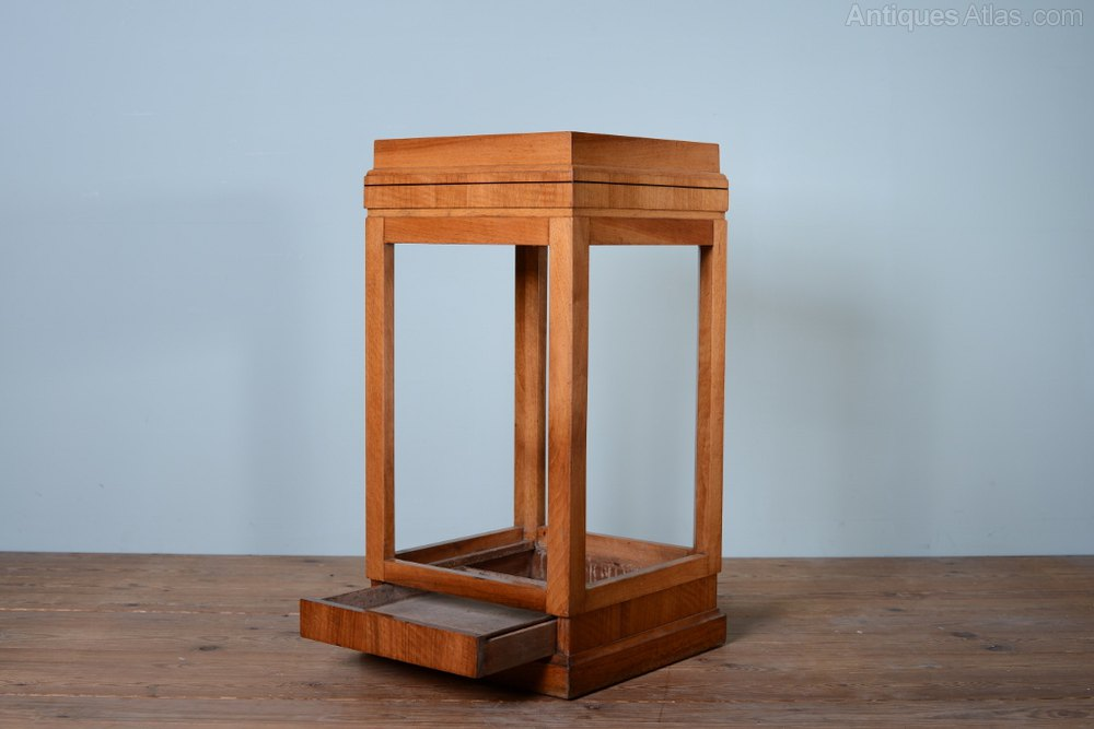 Antique Walnut Umbrella Stand By Waring & Gillows