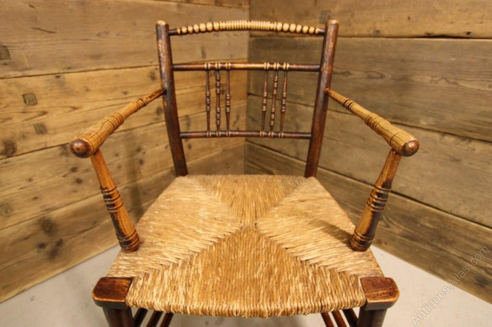 Antique William Morris Sussex Armchair. - Antiques Atlas
