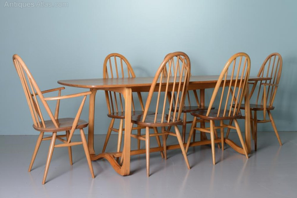 Antiques Atlas Beautiful 1960 S Elm Ercol Dining Table