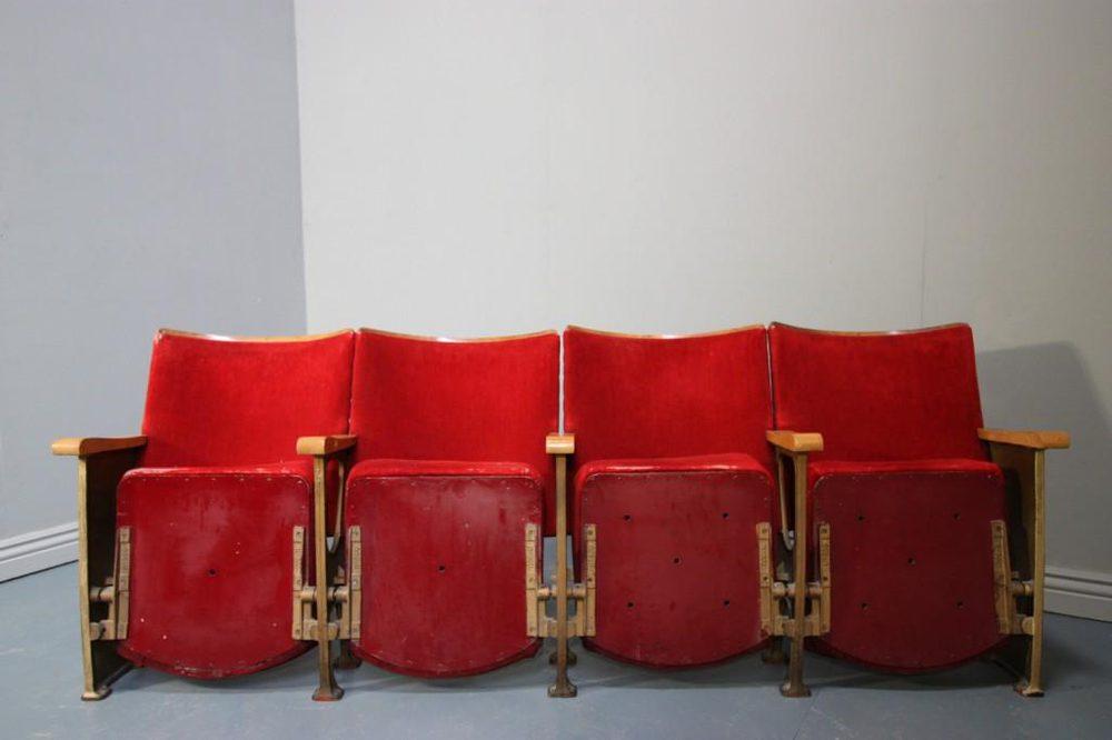 antiques atlas set of 5 vintage 1940s cinema seats 7