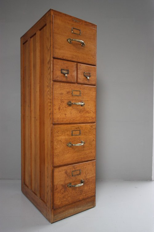 Edwardian Antique Oak Filing Cabinet. - Edwardian Antique Oak Filing Cabinet. - Antiques Atlas