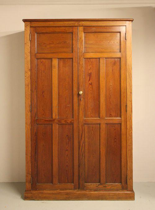 antique pine school cupboard 3