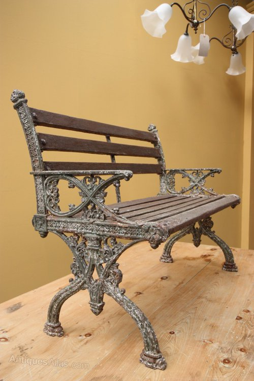 Antiques Atlas English Antique Cast Iron Garden Bench