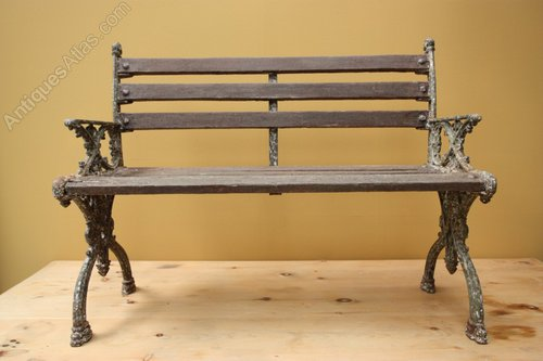 Antiques Atlas English Antique Cast Iron Garden Bench