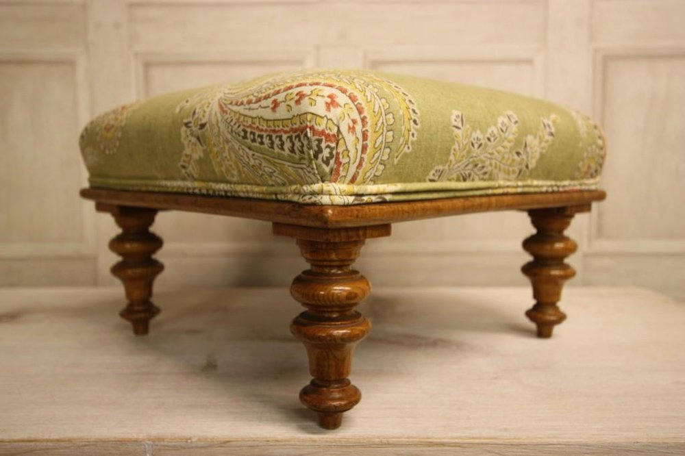 English Antique Upholstered Footstool Antiques Atlas