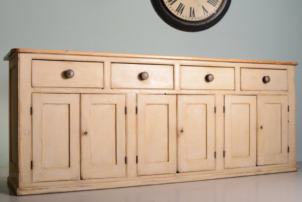 Fabulous English Antique Pine Kitchen Dresser Base