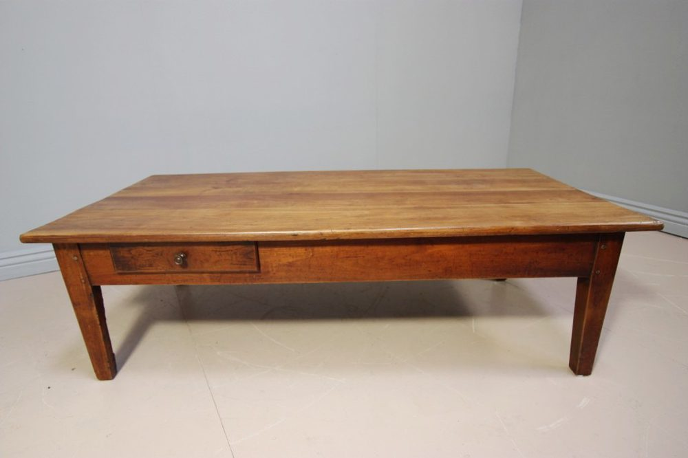 French Antique Cherry Wood Coffee Table Antiques Atlas