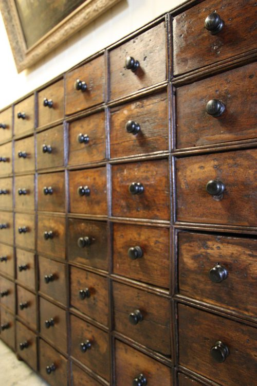 - Georgian Antique Oak Apothecary Chest - Antiques Atlas