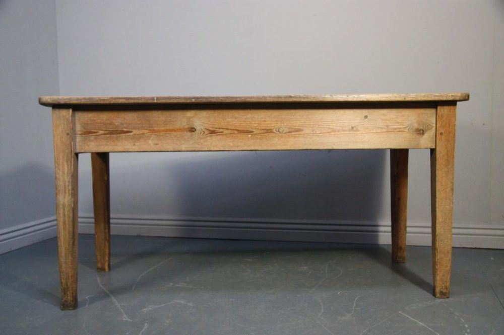 Georgian Country House Antique Pine Kitchen Table Antiques Atlas