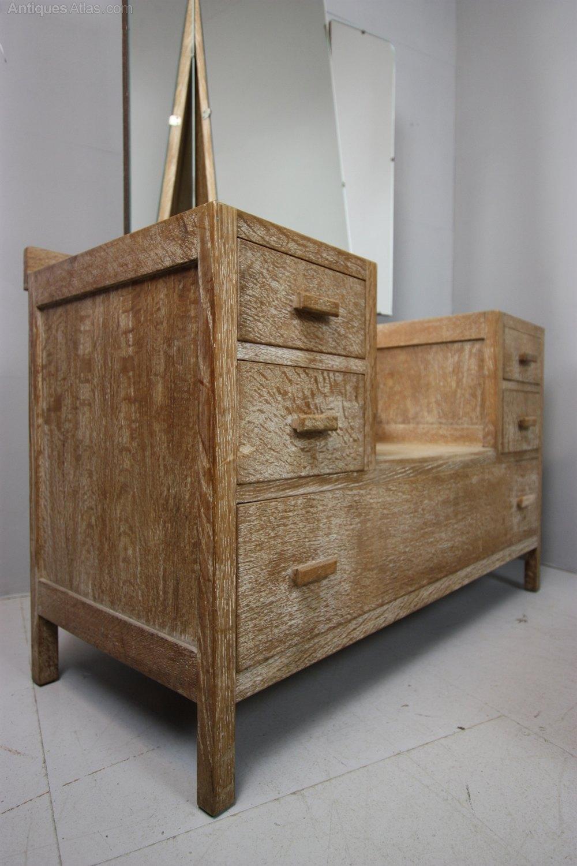 Heals 1920 S Oak Dressing Table Amp Stool Antiques Atlas