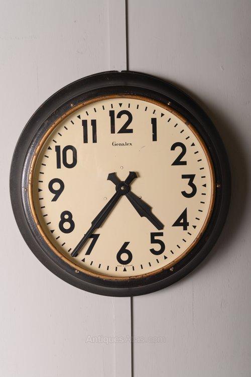 Antiques Atlas Large 1930 S Industrial Factory Clock