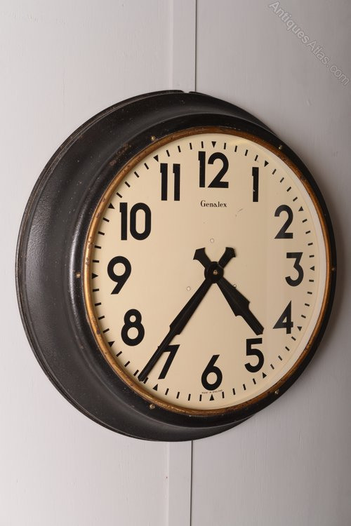Antiques Atlas Large 1930 S Industrial Factory Clock
