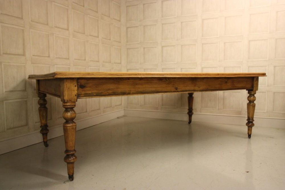 Large 19th Century Antique Pine Dining Table Antiques Atlas