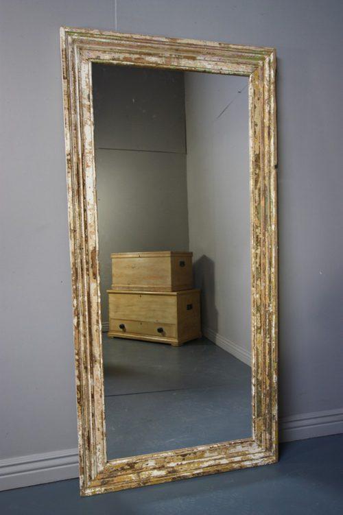 Antiques Atlas Large Antique Painted Pine Architrave Mirror