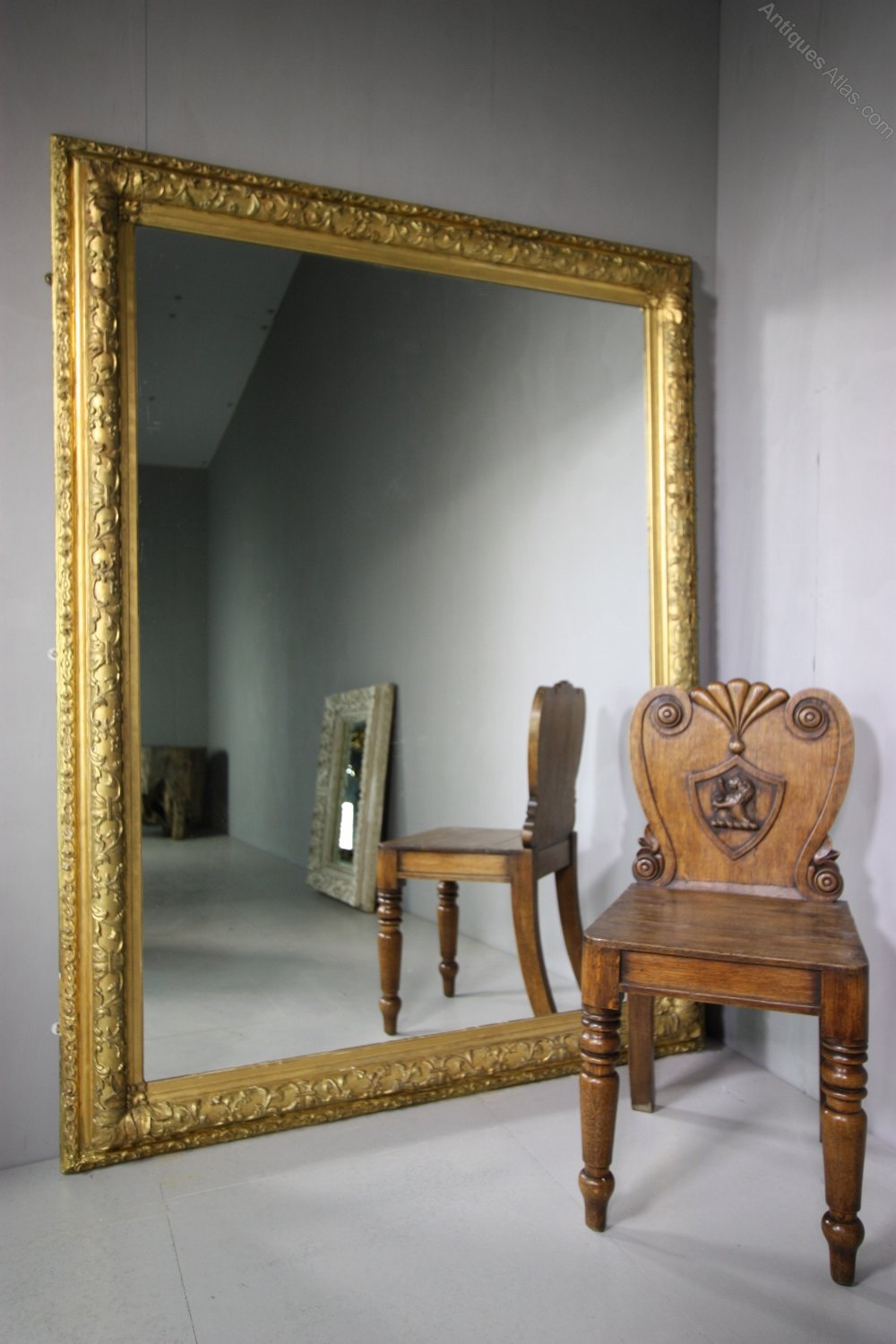 Antiques atlas large english 19th century antique gilt for What is a gilt mirror
