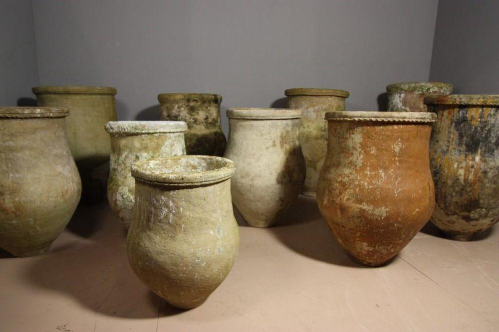 Antiques Atlas - Large Spanish Antique Olive Oil Urns-Jar