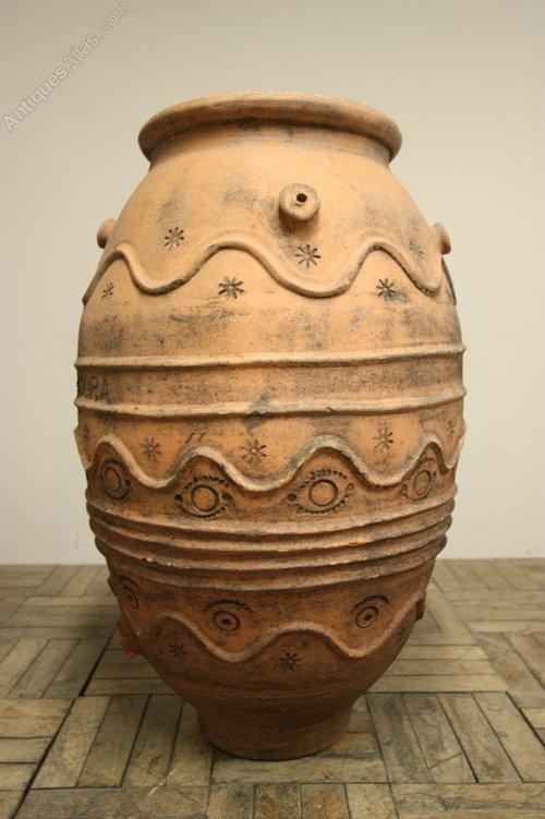 Antique Spanish Bungalow House Plans: Large Spanish Antique Terracotta Urn