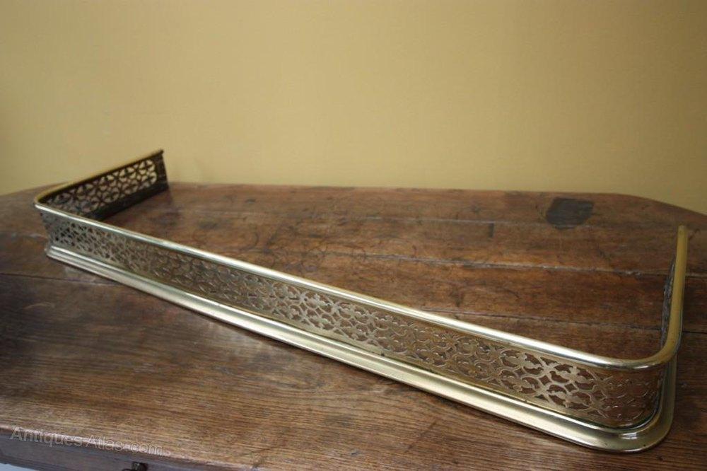 Antique Fire Fenders : Antiques atlas low regency antique brass fireplace fender