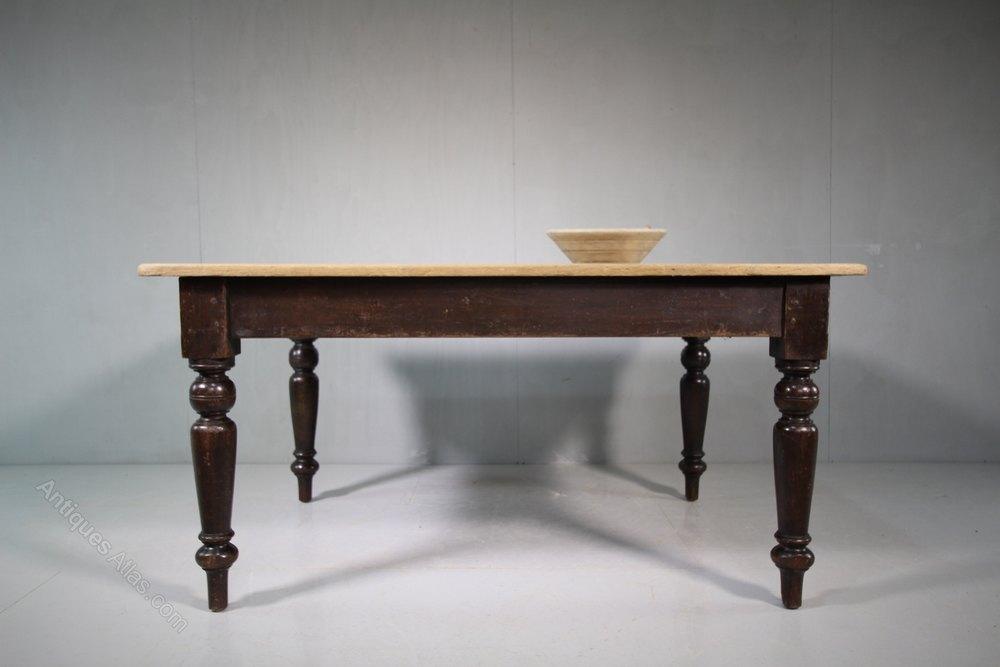 Original Painted Pine Antique Dining Table Antiques Atlas