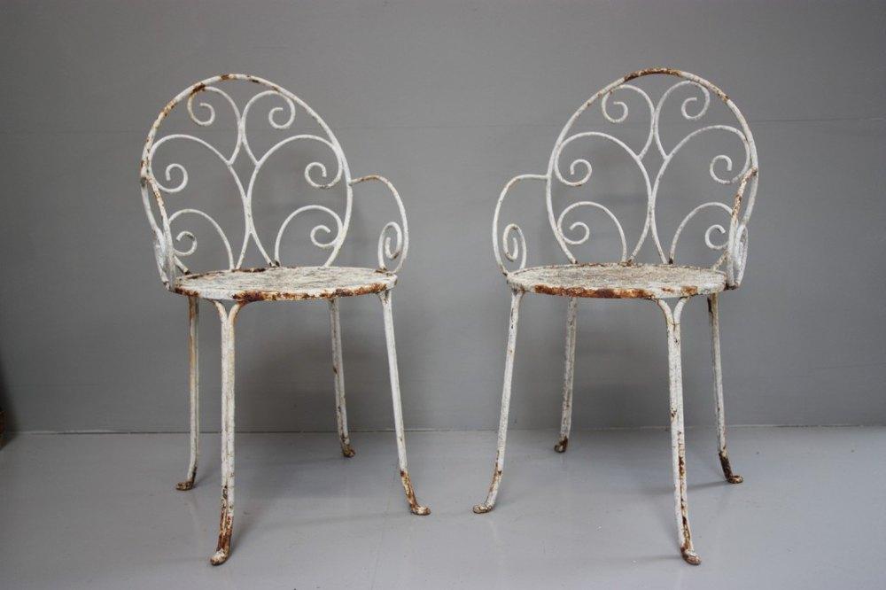 Antiques Atlas Pair Of English Antique Iron Garden Chairs