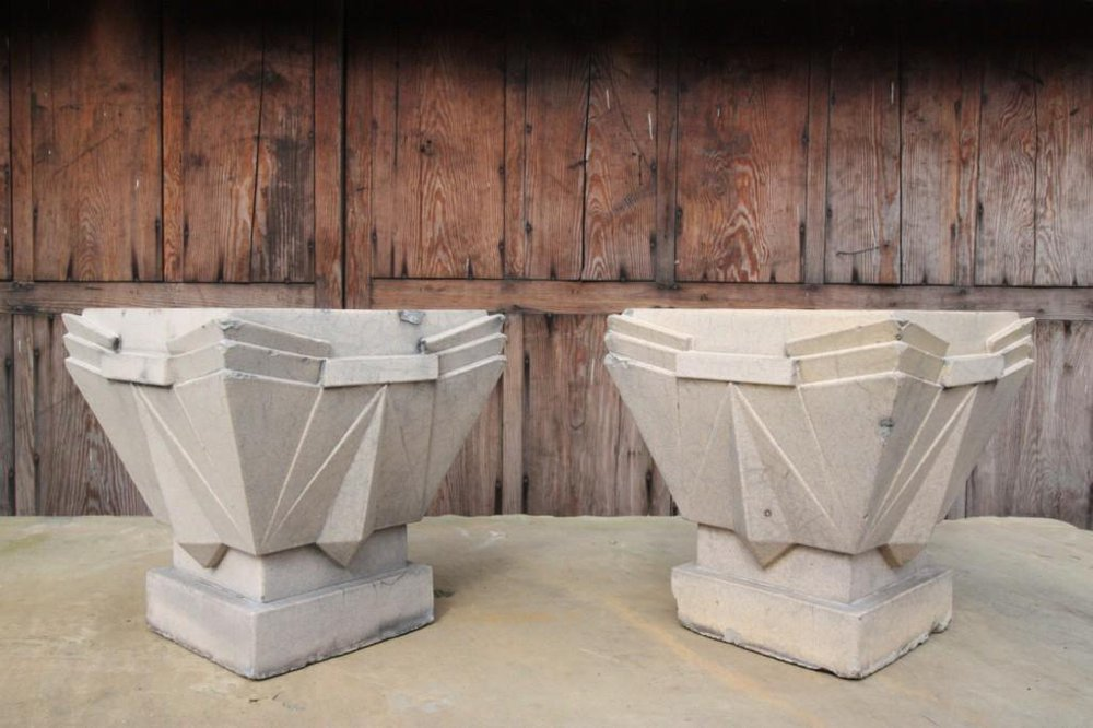 antiques atlas pair of art deco lefco antique garden urns. Black Bedroom Furniture Sets. Home Design Ideas