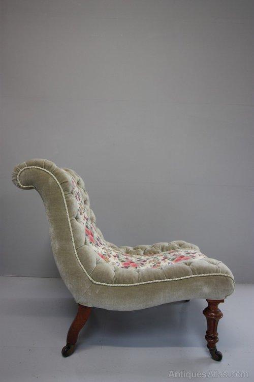 Quality 19th Century Antique Slipper Chair Antiques Atlas