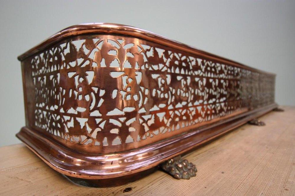 Antique Fire Fenders : Antiques atlas regency antique copper fireplace fender