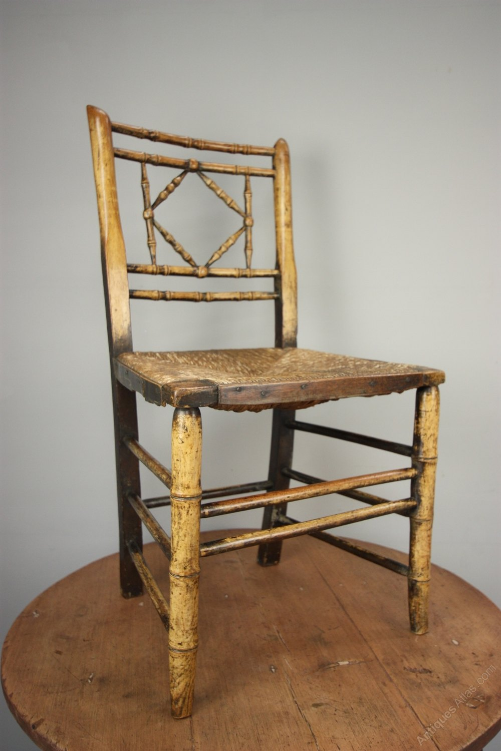 Regency Antique Simulated Bamboo Side Chair Antiques Atlas