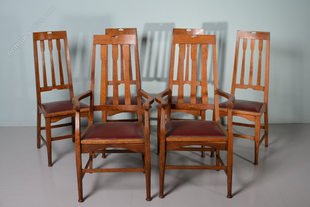 Set Of 6 Antique Dining Chairs By Wylie Lockhead Antiques Atlas