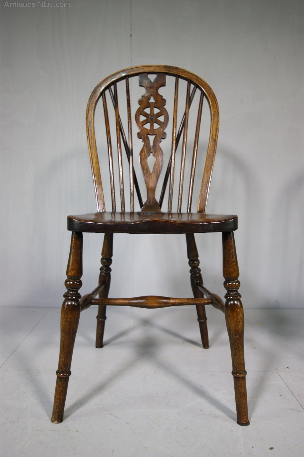 Set Four Antique Country Dining Chairs Antiques Atlas
