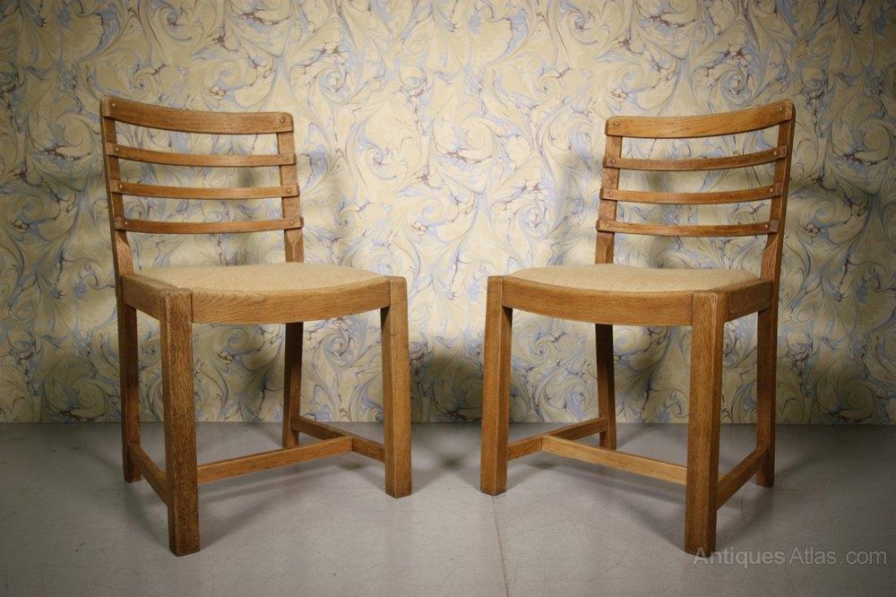 Set Of Six 1930 39 S Heals Oak Dining Chairs Antiques Atlas