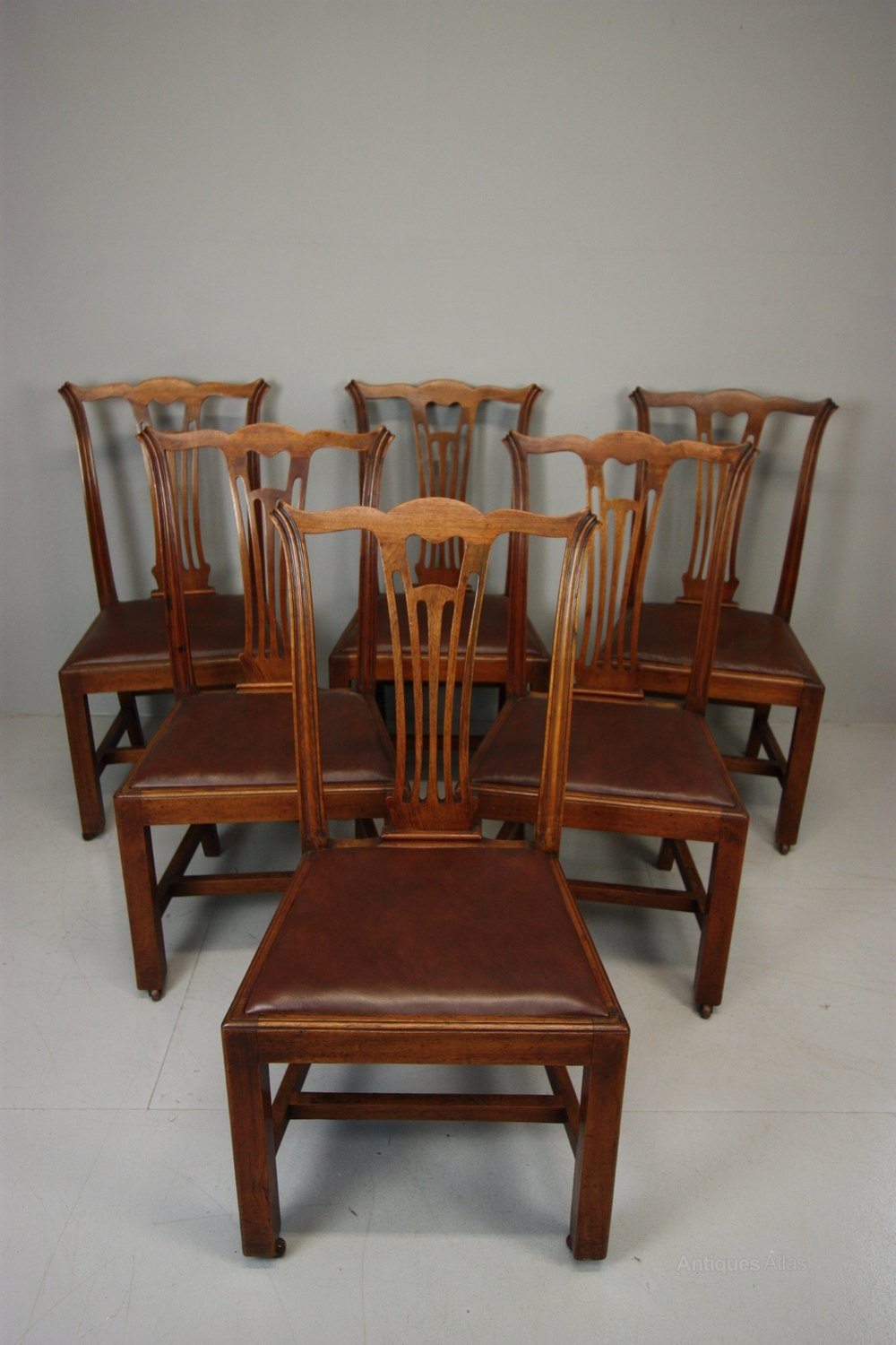 Set Of Six Antique Mahogany Dining Chairs Antiques Atlas