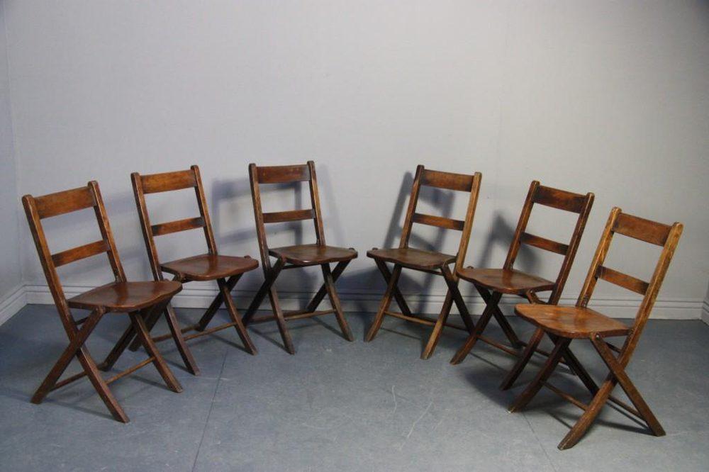 Set Of Six Edwardian Antique Folding Dining Chairs Antiques Atlas