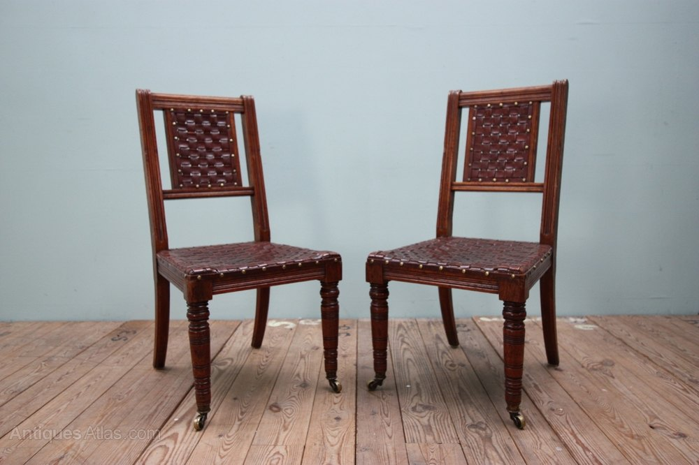 Set Of Six Gillows Antique Walnut Dining Chairs Antiques Atlas