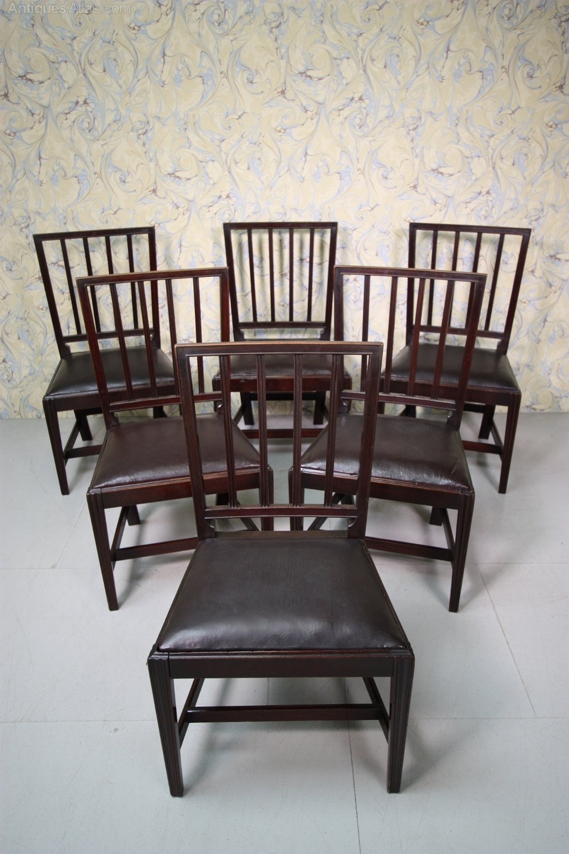 Set Of Six Regency Antique Cuban Mahogany Dining Chairs Antiques Atlas