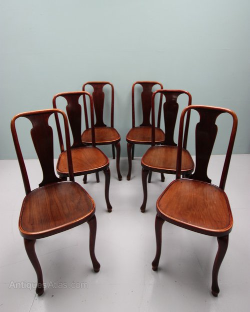 set of six thonet antique dining cafe chairs antiques atlas. Black Bedroom Furniture Sets. Home Design Ideas