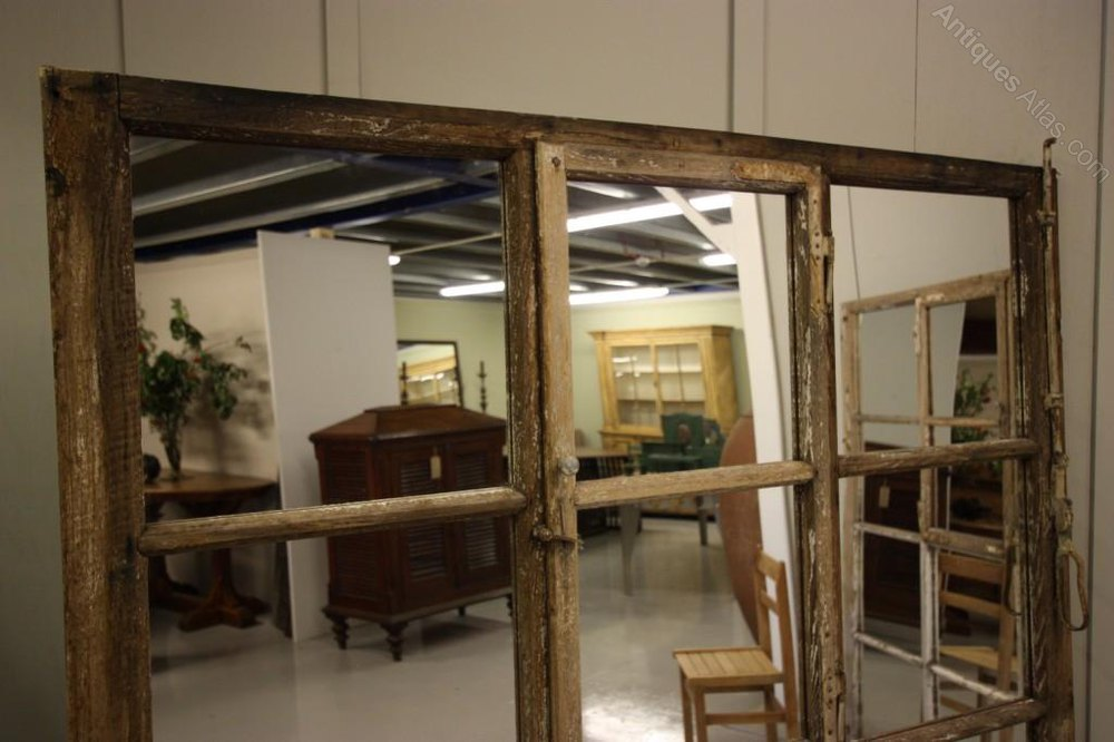 Antiques Atlas Unusual Antique Oak Window Mirror