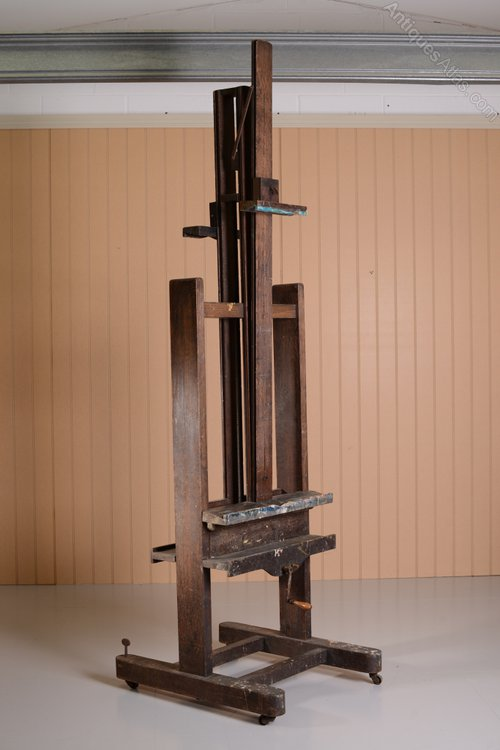 Unusual Double Sided Antique Oak Artist S Easel Antiques