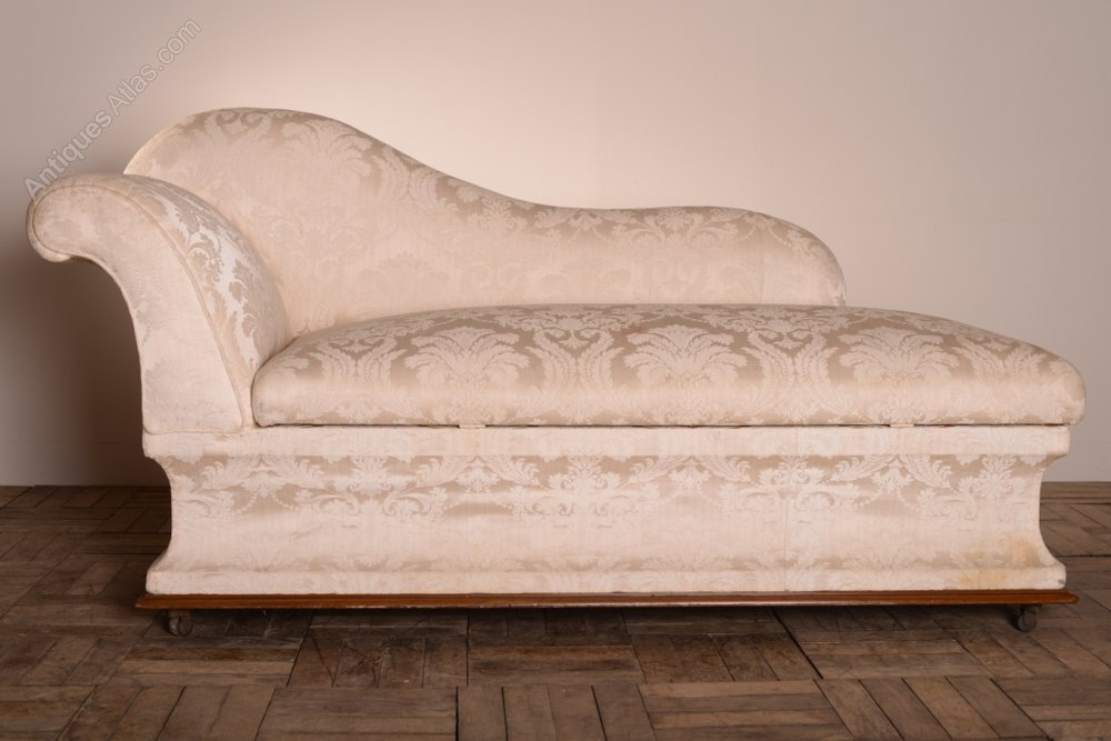 Unusual english antique chaise longue ottoman antiques for Antique chaise longues