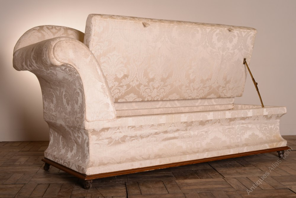 Unusual english antique chaise longue ottoman antiques for Antique chaise longue uk