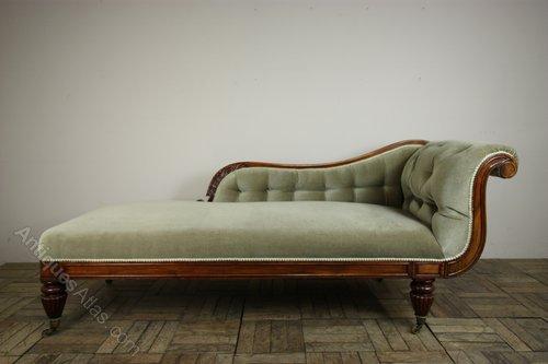 William iv antique mahogany chaise longue antiques atlas for Antique chaise longue for sale uk