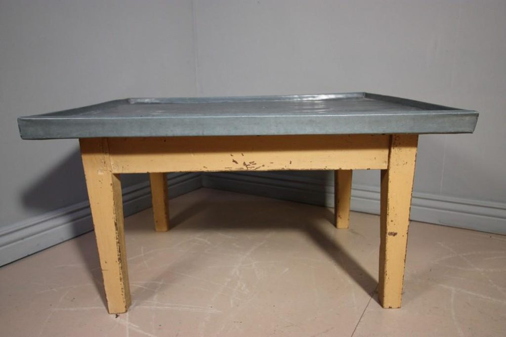 Zinc Top Antique Coffee Table Antiques Atlas