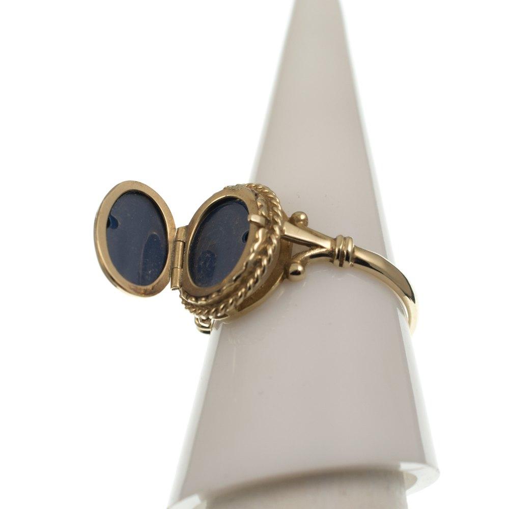 antiques atlas 9ct gold locket ring