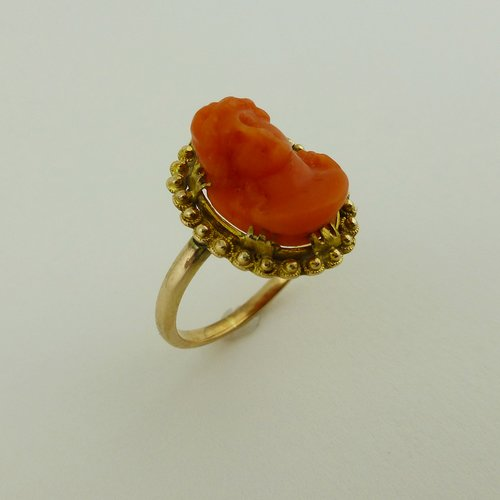 antiques atlas antique coral ring 9ct gold
