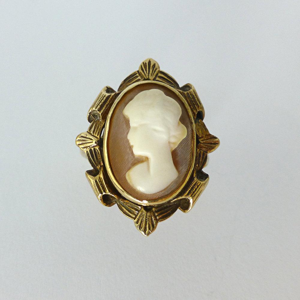 antiques atlas antique deco cameo ring 9ct gold
