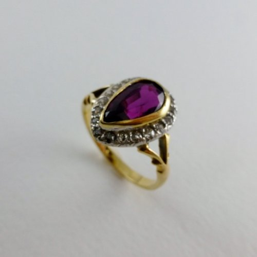 antiques atlas antique ruby ring 18ct