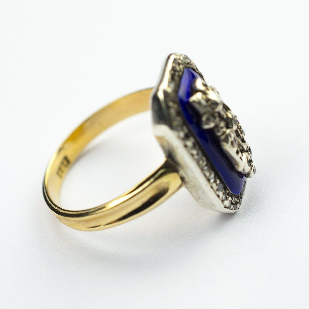 Antiques Atlas  Blue Enamel Flower Ring With Diamonds C1900. Ocean Inspired Wedding Rings. D Color Engagement Rings. Welding Engagement Rings. Sandalwood Rings. Toned Wedding Rings. Brass Rings. Dull Wedding Rings. 19 Carat Engagement Rings