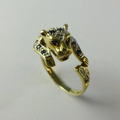 Masonic Wedding Band 44 Nice Novelty Sapphire and Diamond