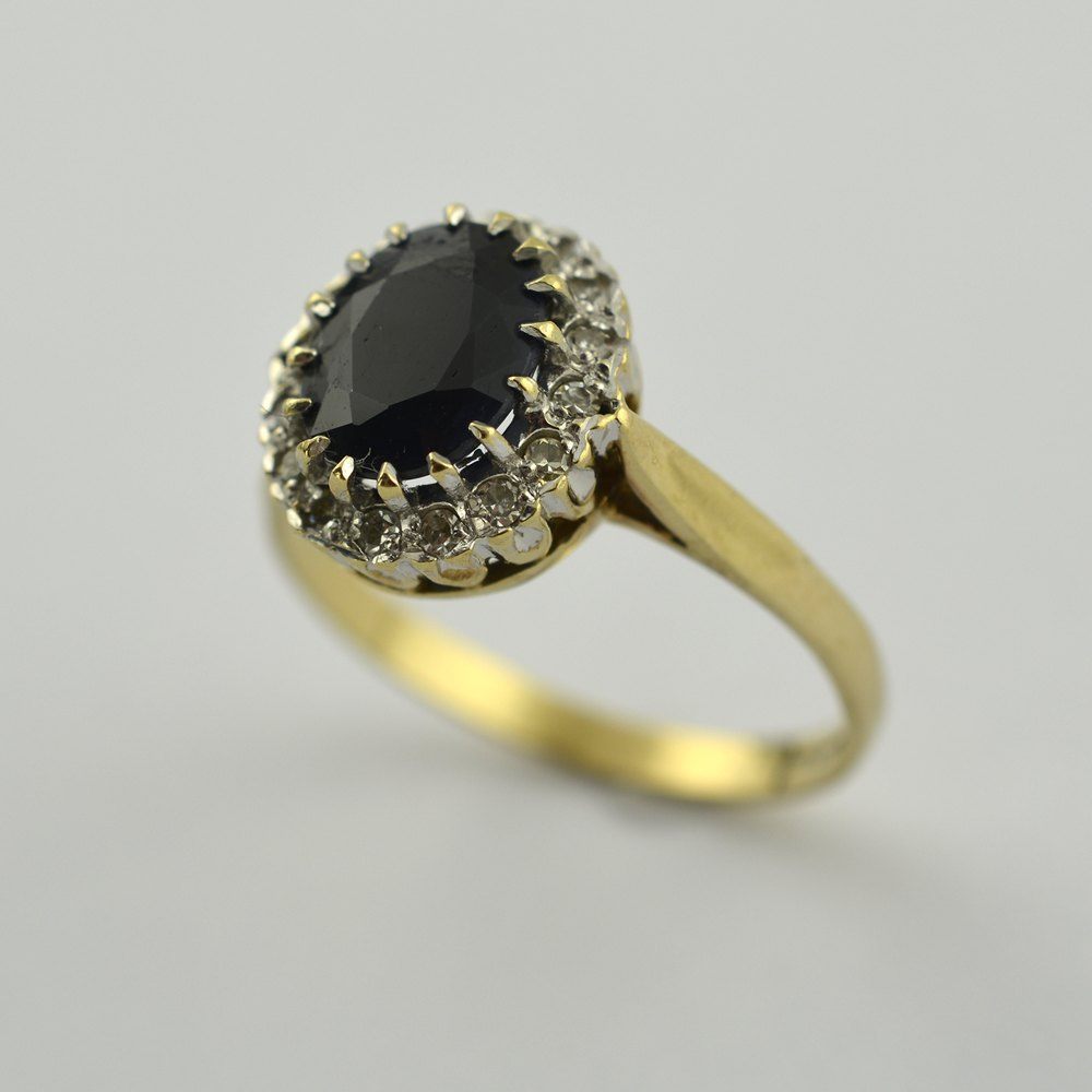 Antiques Atlas Sapphire And Diamond Ring 9ct Gold